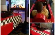 Věrný závodní simulátor F1 v měřítku 1:1 nesmí chybět na Vaší akci