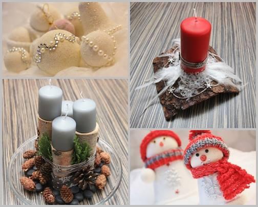 Vánoční workshop: tvorba věnců, vánočních baněk na stromeček a dalších ozdob, svícnů.