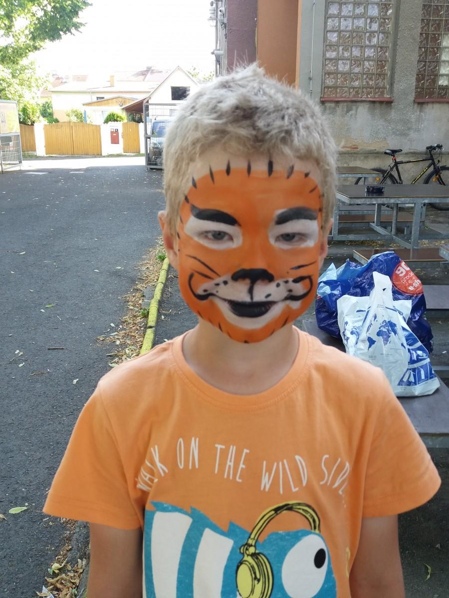 malování na obličej – facepainting – tygr