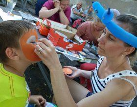 malování na obličej – facepainting – malířka v akci