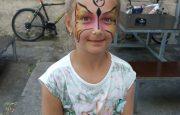 malování na obličej – facepainting – motýlek