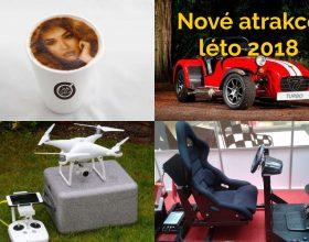 Nové atrakce: Foto káva, letadla a vrtulníky na ovládání a další atrakce